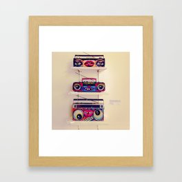 boom box flair Framed Art Print