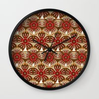 spice Wall Clocks featuring Spice by Shelly Bremmer