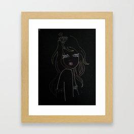 black girl Framed Art Print