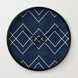 Nudo in Navy Wall Clock