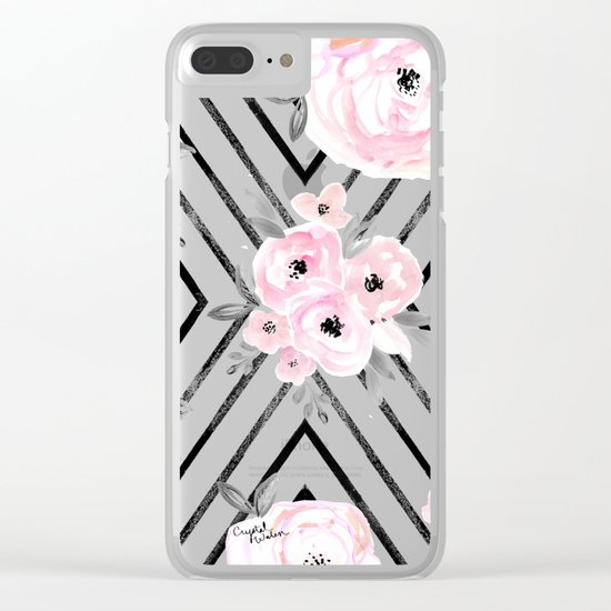 Blush Roses Mod Clear iPhone Case