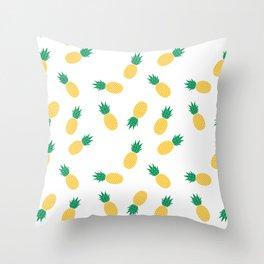 PINEAPPLE ANANAS FRUIT FOOD PATTERN Throw Pillow
