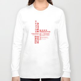 Fitter Happier (red type) Long Sleeve T-shirt