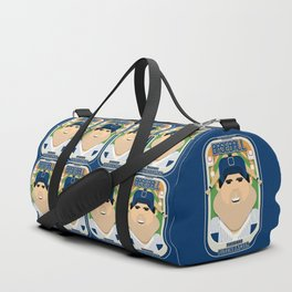 Baseball Blue Pinstripes - Rhubarb Pitchbatter - Victor version Duffle Bag