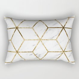 Gatsby golden marble Rectangular Pillow