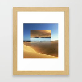 Dunes in Gran Canaria Framed Art Print