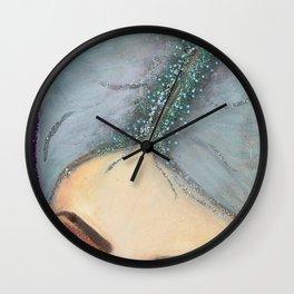 Eyebrows & Glitter Roots on Fleek! Wall Clock