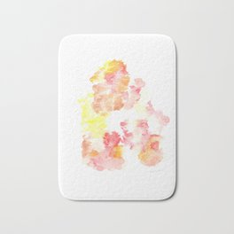 Bright Me Up and Ease Me In  |Modern Watercolor Art | Abstract Watercolors Bath Mat
