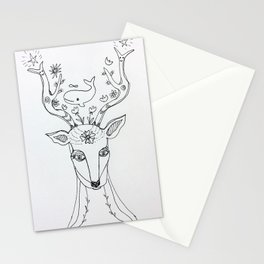 whale minded deer Stationery Cards