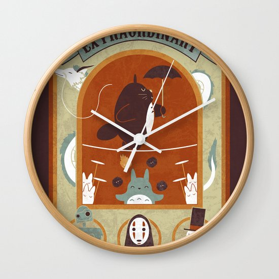 The Moving Circus Wall Clock