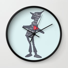 Heart is Judged by how much you are loved by others Wall Clock