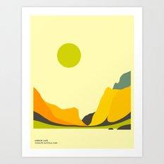 YOSEMITE NATIONAL PARK, MIRROR LAKE Art Print