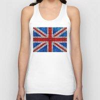 british flag Tank Tops featuring British Flag - Brittain England Stone Rock'd Art by Sharon Cummings