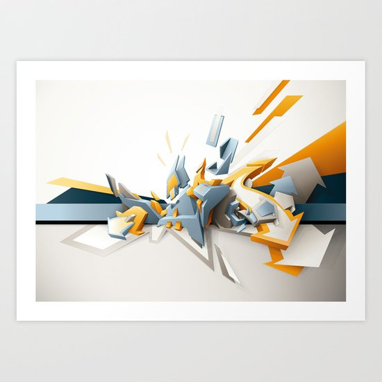 All directions Art Print