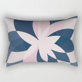 Rose Blue Bloom Rectangular Pillow