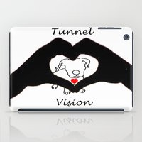 pit bull iPad Cases featuring Tunnel Vison (love is a pit bull No.3) by Shay by design