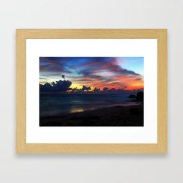 Rainbow Sunset Framed Art Print