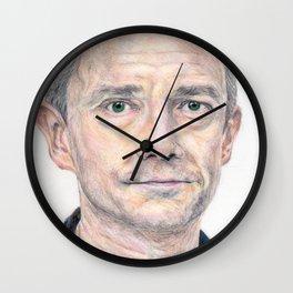 Martin Freeman Colour Wall Clock