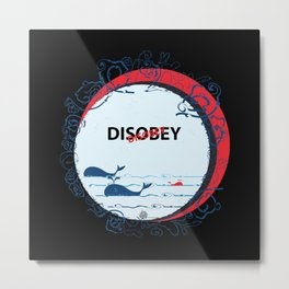 DIS Obey Whale Metal Print
