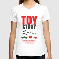 toy story T-shirts featuring Toy Story Movie Poster by FunnyFaceArt