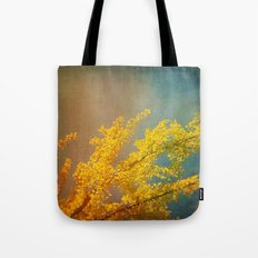 Yellow Ginkgo Tree in Autumn Tote Bag