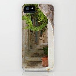 Nissyros Lane iPhone Case