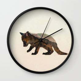 Little Ones: Fox Wall Clock