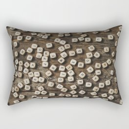 Letters on the table Rectangular Pillow