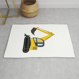 Yellow Excavator Rug