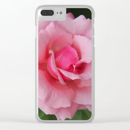 Soft Pink Rose Clear iPhone Case