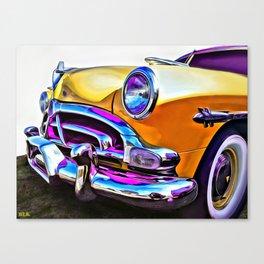 1951 Yellow Hudson Hornet Canvas Print