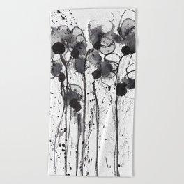 Autumn flowers6 Beach Towel