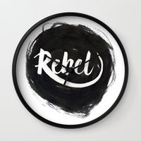 rebel Wall Clocks featuring Rebel by thezeegn