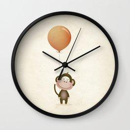 Monkey Print Wall Clock