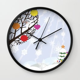 """Seasons"" Autumn-Winter Wall Clock"