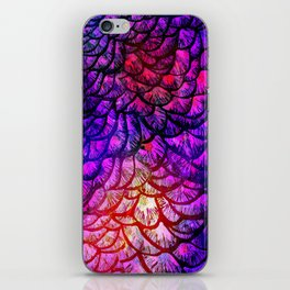 Preening Peacock Cotton Candy iPhone Skin