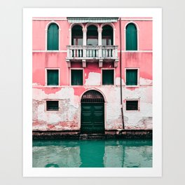 Pink Building in Venice Travel Photography  Art Print