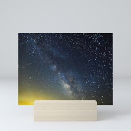 Milky Way bokeh Mini Art Print
