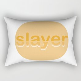 70s inspired graphics are metal Rectangular Pillow