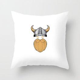 Cool Viking Skol Bearded Men Man Manly Beer Drinker Throw Pillow