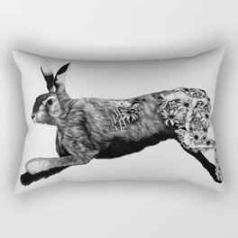 Hare Today, Gone Tomorrow Rectangular Pillow