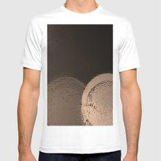 Dark Night Sepia White Mens Fitted Tee MEDIUM