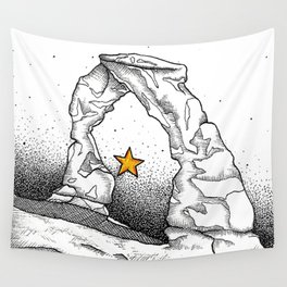 Delicate Arch (B&W) Wall Tapestry