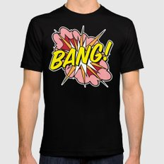 Bang! MEDIUM Black Mens Fitted Tee