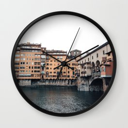 italian Architecture in Florence Wall Clock