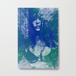 Degradation Trip II | graffiti sexy female silhouette Metal Print