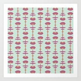 Deco-Flora Art Print