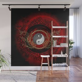 The sign ying and yang Wall Mural