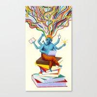 shiva Canvas Prints featuring shiva by Robert Deutsch
