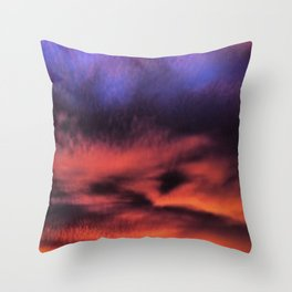 Sunset in the Maldives Throw Pillow